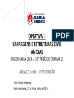 Barragens Civil T2 AULAS 01 e 02