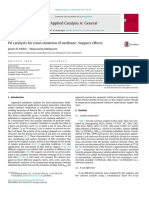 Pd Catalysts for Total Oxidation of Methane Support Effects