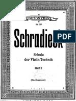 Schradieck Schule Der Violin I
