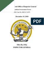 Detroit Demolition Procurement Process Report 2015-0179