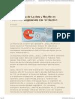 La Influencia de Laclau y Mouffe en Podemos