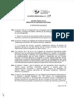 ACUERDO MINISTERIAL 128