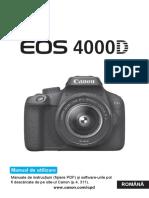 EOS 4000D Instruction Manual RO