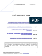 Les Fondamentaux Le Developpement Local