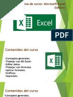 Programa de Curso MS Excel Basico