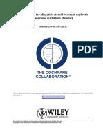 Cochrane, Hodson,Metaanalisis Snrs TX