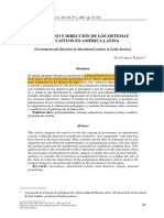 Gobierno y dirección de los sistemas educativos en América Latina.