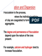 Floculation and Dispersion