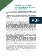 Tema 2. Ortega y Gasset (Concepción Aristotélica Del Movimiento)
