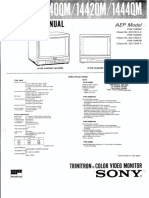 Sony PVM 1440QM 1442QM 1444QM Service Manual