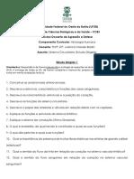 Estudo Dirigido 1 Sistema Circulatrio 2018.1