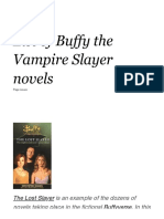 List of Buffy the Vampire Slayer Novels