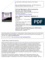 Grey Water Treatment Systems. a Review