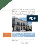 Memoria de Cálculo Estructural P CIVIL PUEBLA