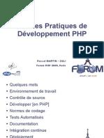 315 Bonnes Pratiques Developpement Php Pmartin Forum Php 2009 Diffusion