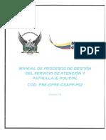 Manual de Procesos Del Servicio de Gestión de Atención y Patrullaje Policial