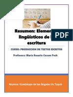 2. Resumen - Elementos Linguisticos de La Escritura