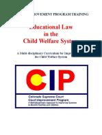 Cip Educational Curriculum Spring 2013