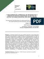 Caracterização ambiental de microbacias na região do Pontal do Paranapanema (Artigo SINAGGET) - Alisson R. Santori