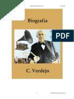 Biografia de Thomas Alva Edison - C. Verdejo