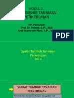 Syarat Tumbuh Tanaman Perkebunan (KB 1)