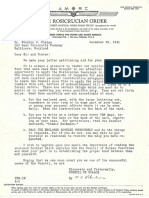 AMORC Council of Solace letter to Member (November 29, 1941)
