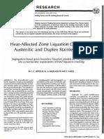 HAZ liquation cracking in austenitic and duplex s.s. - J.C. Lippold.pdf