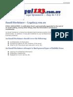 Email Disclaimer - Legal123.com.au