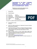 Ficha Informativa de Clasificación Ambiental Para El Proyecto Final