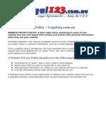 Website Privacy Policy - Legal123.com.au