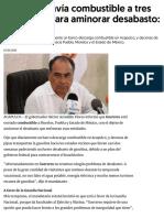 07-01-2019 Guerrero envía combustible a tres entidades para aminorar desabasto_ Astudillo.