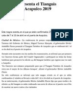 09-01-2019 Astudillo presenta el Tianguis Turístico de Acapulco 2019.