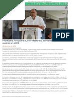 09-01-2019 Mantiene Astudillo Austeridad y No Aumenta Su Sueldo en 2019.