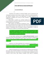 Fundamentos Em Psicologia Hospitalar _as Diferenc_as