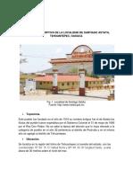 Memoria Descriptiva de La Localidad de Santiago Astata