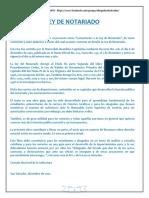 Ley Del Notariado.- Comentada y Concordada.- 2002