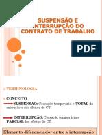 Aula 15 - Suspensão e Interrupão Do Contrato de Trabalho