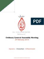 AGM 2016 - Al Salam Bank
