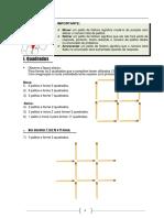 Desafios de Matemc3a1tica Com Palitos Figuras Quadradas