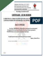 Certificado de Trabajo Elii