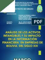 ANÁLISIS DE LOS ACTIVOS  INTANGIBLES Y SU IMPACTO EN LA INFORMACIÓN FINANCIERA, EN EMPRESAS DE  BOLIVIA, DEL SIGLO XXI