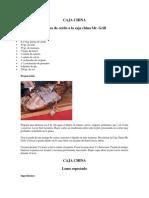 Recetas Caja China