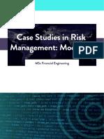 WQU Case Studies in Risk Management Module 3 Compiled Content
