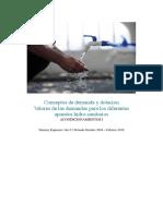 Conceptos de Demanda y Dotación; Valores de Las Demandas Para Los Diferentes Aparatos Hidrosanitarios.