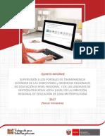 Informe de Supervision Portales Transparencia Tercer Trimestre 2017