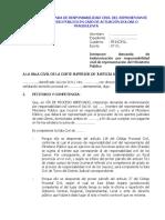 DEMANDA DE RESPONSABILIDAD CIVIL DEL REPRESENTANTE DEL MINISTERIO PÚBLICO EN CASO DE ACTUACIÓN DOLOSA O FRAUDULENTA.doc