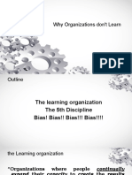 Session 4 Why Organizations Dont Learn