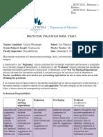 third year evaluation