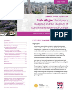 Porto Alegre Participatory Budgeting and the Challenge of Sustaining Transformative Change