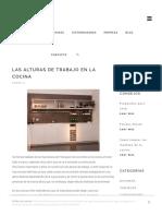 Las Alturas de Trabajo en La Cocina – Grupo Inara